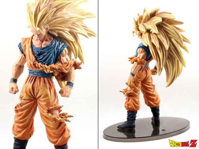 dragon ball z super saiyan goku ssj3 old pvc action figures kids