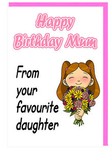 Image Is Loading Lovely Cheeky Birthday Card For Mum From Your