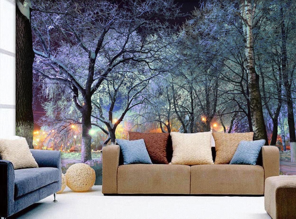 3D Waldschnee 668 Tapete Tapeten Mauer Foto Familie Tapete Wandgemälde DE