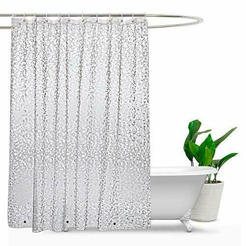 EVA Shower Curtains with Crystal Stone Waterproof Shower Curtains by Eurcross
