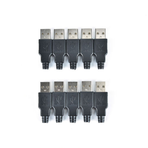2//5//10pcs type a usb 4 pin male socket connector plug termination plastic sF WD