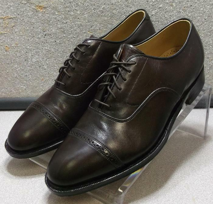 2408564 PF50 Men's shoes Size 9.5 M Brown Leather Lace Up Johnston & Murphy
