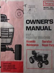 Details about Sears Suburban 917.257050 GT/16 Lawn Garden Tractor Owner on