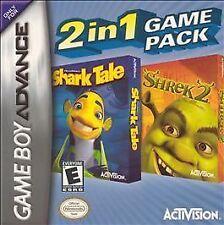 2 in 1 Game Pack: Shark Tale/Shrek 2 (Nintendo Game Boy Advance, 2005) GAME ONLY