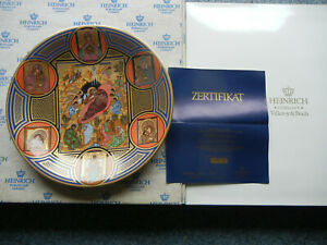 Heinrich-Year-Plate-1980-Weihnachtsikone-Lim-No-0885-With-Certificate-Boxed