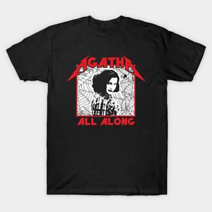It Was Agatha All Along TV Series Quotes Superhero Black T-Shirt S-6XL