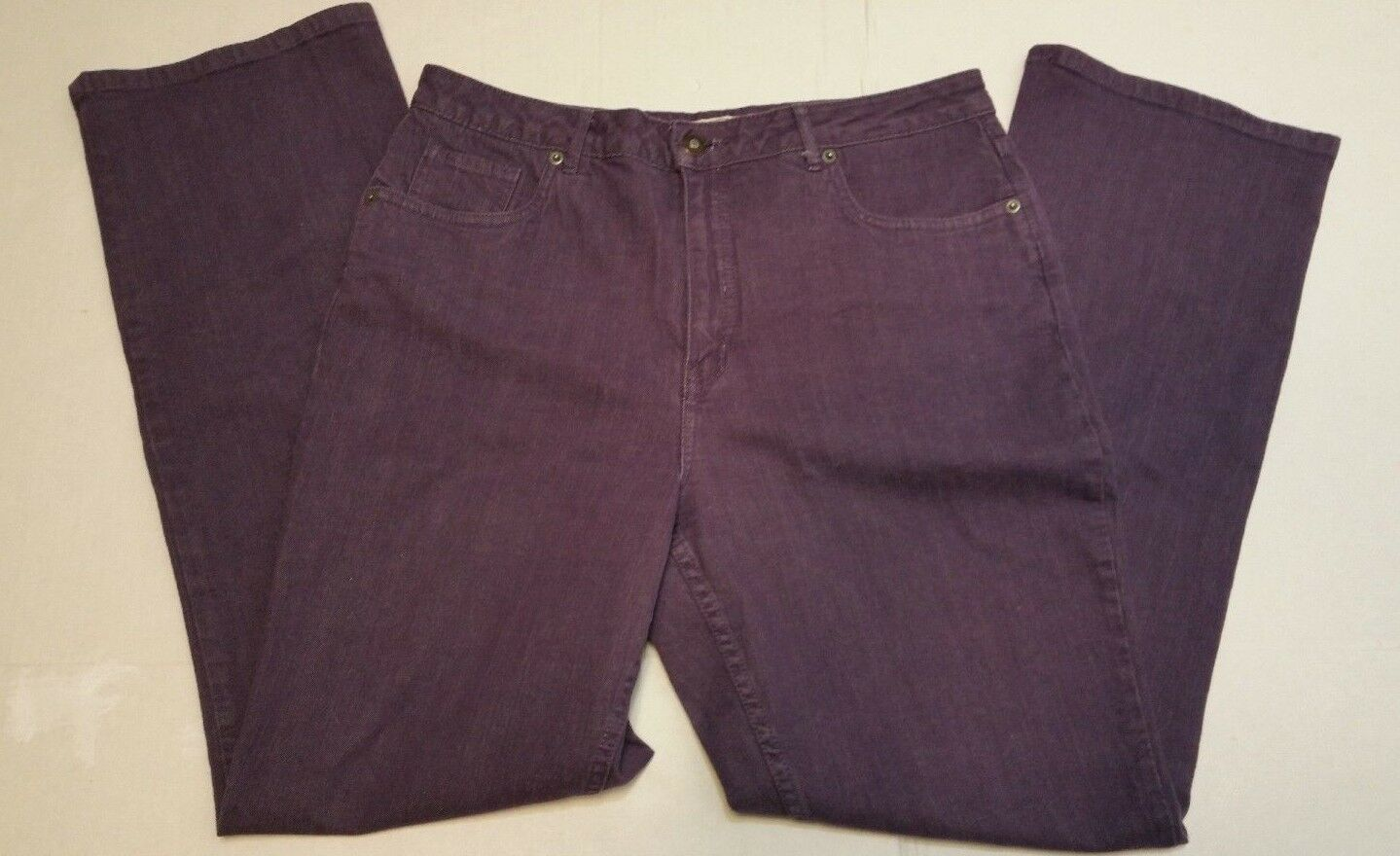 Coldwater Creek Purple Denim Jeans Pants Womens Size 16 Boot Cut Size 12 L31