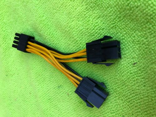 PNY Dual 6 Pin Female To 8 Pin Male PCIE VGA Power Cable for ATI  RADEON NVIDIA