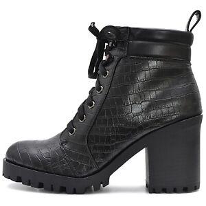 Damas-plataforma-botines-botines-negro-con-cierre-de-cremallera-suela-perfil