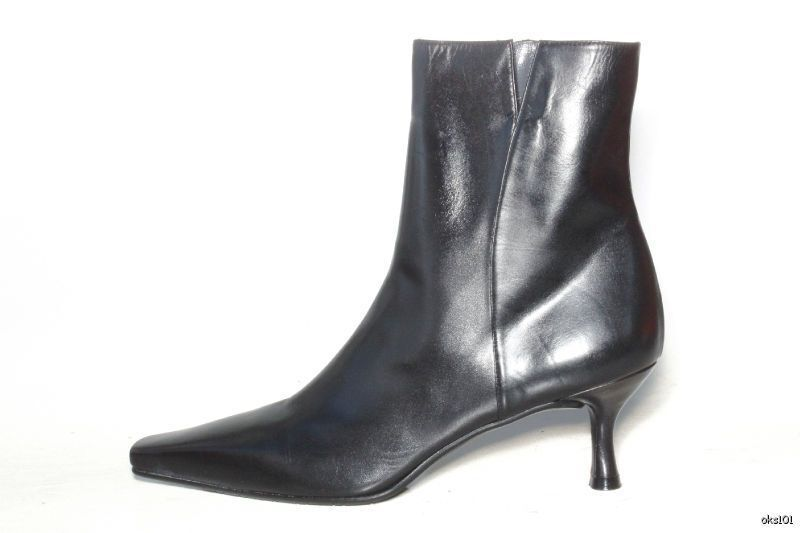 New STUART WEITZMAN 'Mitzy' black calf leather ANKLE BOOTS shoes 11 - CLASSY