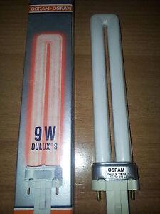 osram dulux s lampe fluorescent n on rouge rouge 9w 60 g23 ebay. Black Bedroom Furniture Sets. Home Design Ideas