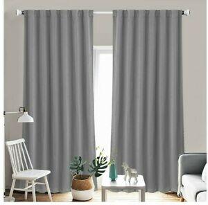 Shield Creator Blackout Room Darkening Curtains Window Blinds 2 Panel Set 52x84 Ebay