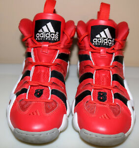 c2a80375da9a Image is loading Adidas-Crazy-8-Red-Black-White-Basketball-Sneakers-