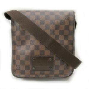 Auth-LOUIS-VUITTON-Brooklyn-PM-Shoulder-Bag-N51210-Damier-Brown-Canvas-Used-LV