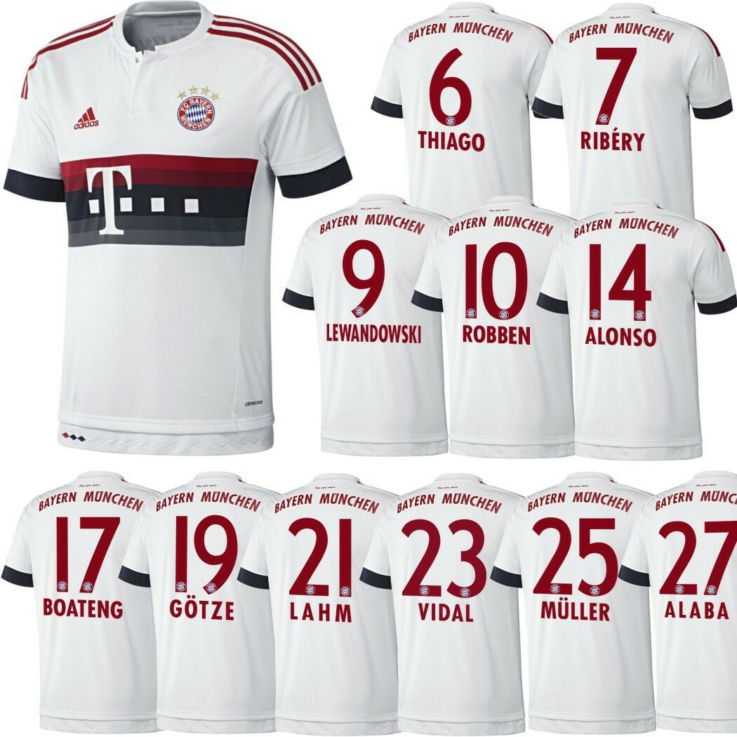 Adidas FC Bayern München Trikot Away 20152016 BiancoRossoBlu [AH4790]