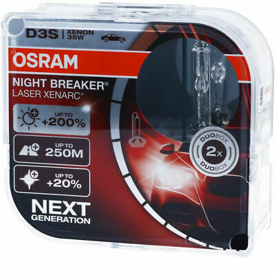 OSRAM H7 NIGHT BREAKER LASER NEXT GEN BULBS PEUGEOT 307 3E 1.6 HDi 110 02.04