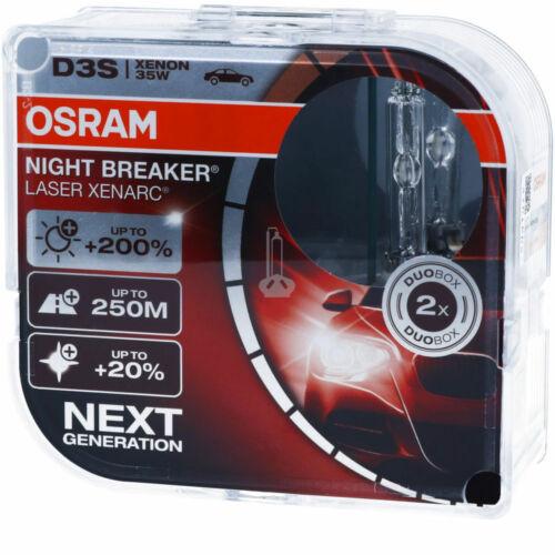 2X Xenon D3s Burner Lamp Osram Headlight Xenarc Bulbs Night Breaker Laser