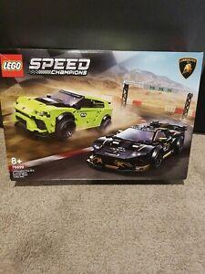 LEGO-76899-Lamborghini-Urus-ST-X-amp-Lamborghini-Huracan-Super-Trofeo-EVO-Speed