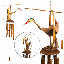 Large Gooney Bird Of Paradise Bamboo Wind Chime w/ Bamboo Wood