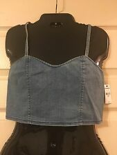NWT Express Denim Cropped Top, Size Small