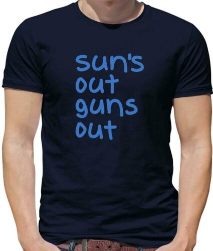 Suns Out Guns Out T-shirt homme-Workout-Gym-Exercice Poids-Muscle