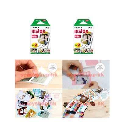 4 Packs Fujifilm instax Mini Film,40 Fuji instant photos Mini 9 8 7s 90 25 55i