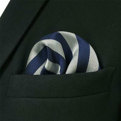 S/&W SHLAX/&WING Orange Blue Pocket Square for Men Fashion Large Handkerchief
