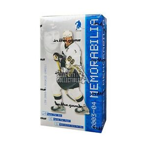 2003-04-In-The-Game-Be-A-Player-Memorabilia-Hockey-Hobby-Box