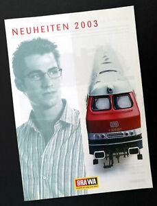 """Acheter Pas Cher Brawa Prospectus """"nouveautés 2003"""", Din A4, 32 Pages, Neuf!-afficher Le Titre D'origine PosséDer Des Saveurs Chinoises"""