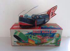 Space Whale Ship boxed. Tinplate clockwork wind up toy japan Yoshiya (KO) 1960's