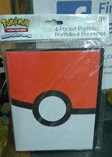Pokemon Poke ball Pokeball 4 Pocket Page Portfolio Album Binder New