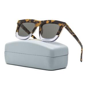 b0c2ebb9b4d Image is loading Karen-Walker-Deep-Orchard-Rectangular-Womens-Sunglasses- Tortoise-