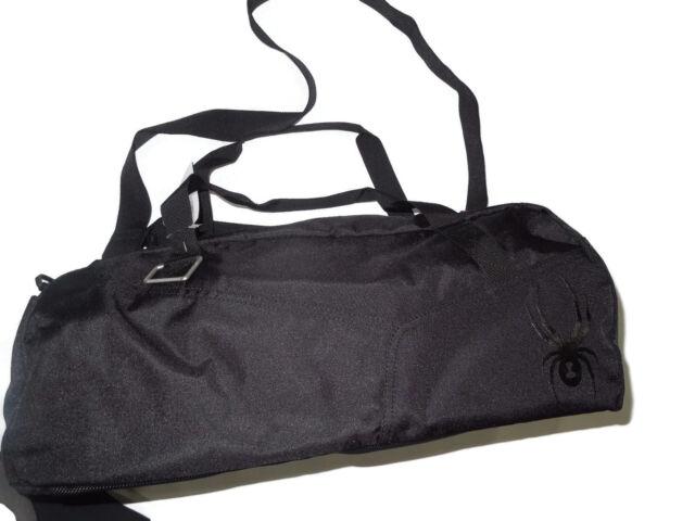 Spyder With Spider Logo Black Nylon Duffel Gym Bag Pack Retail 180