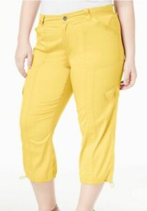 f59a01b57d2 Image is loading Style-amp-Co-Plus-Size-Cargo-Capri-Pants-