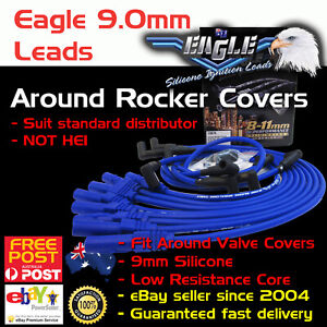 EAGLE-9mm-Ignition-Spark-Plug-Leads-Fits-HEI-302-351-Cleveland-Over-V-Covers