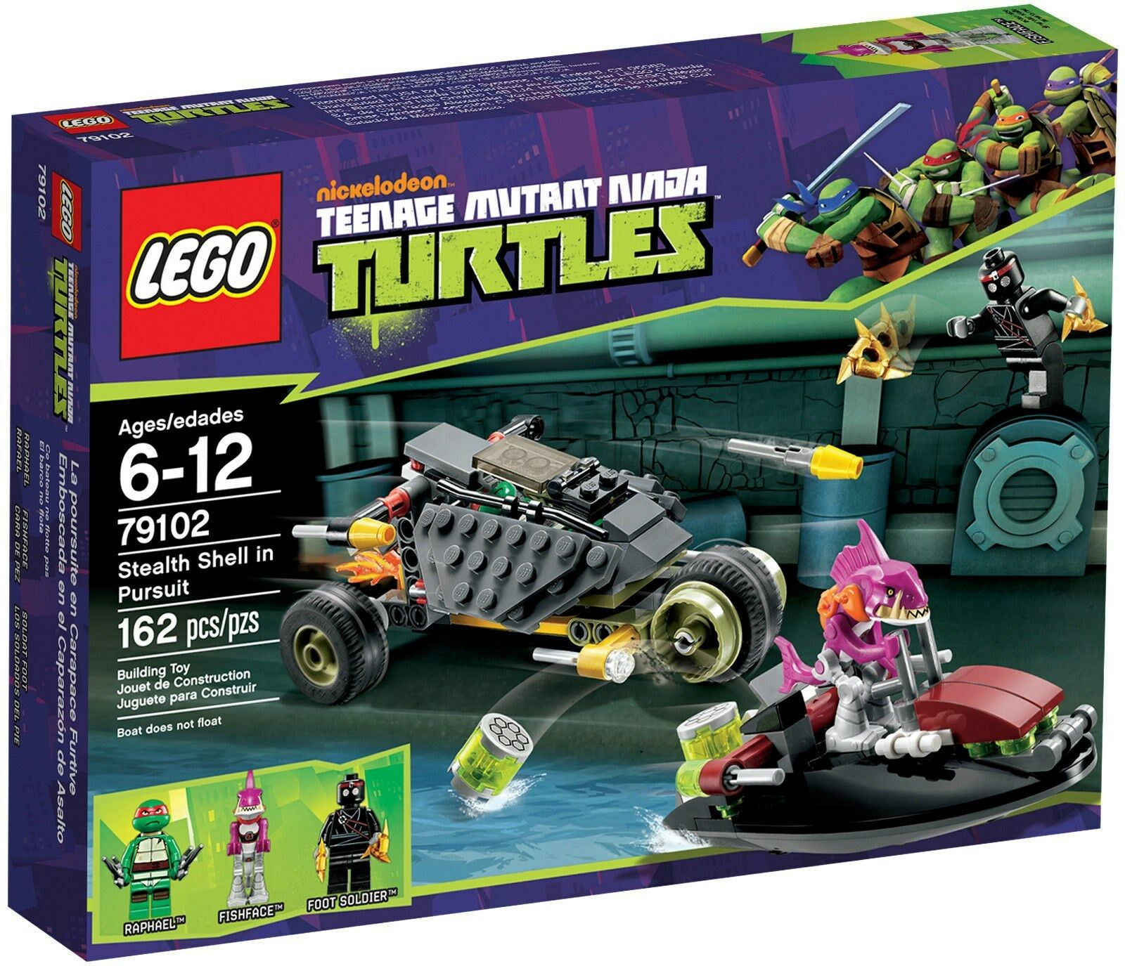 79102 STEALTH SHELL PURSUIT lego NEW legos set TMNT raphael fishface foot soldie