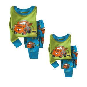 Toddler-Boy-Girls-Kids-Pajamas-Sleepwear-Nightwear-Outfits-T-shirt-Top-Pants-Set