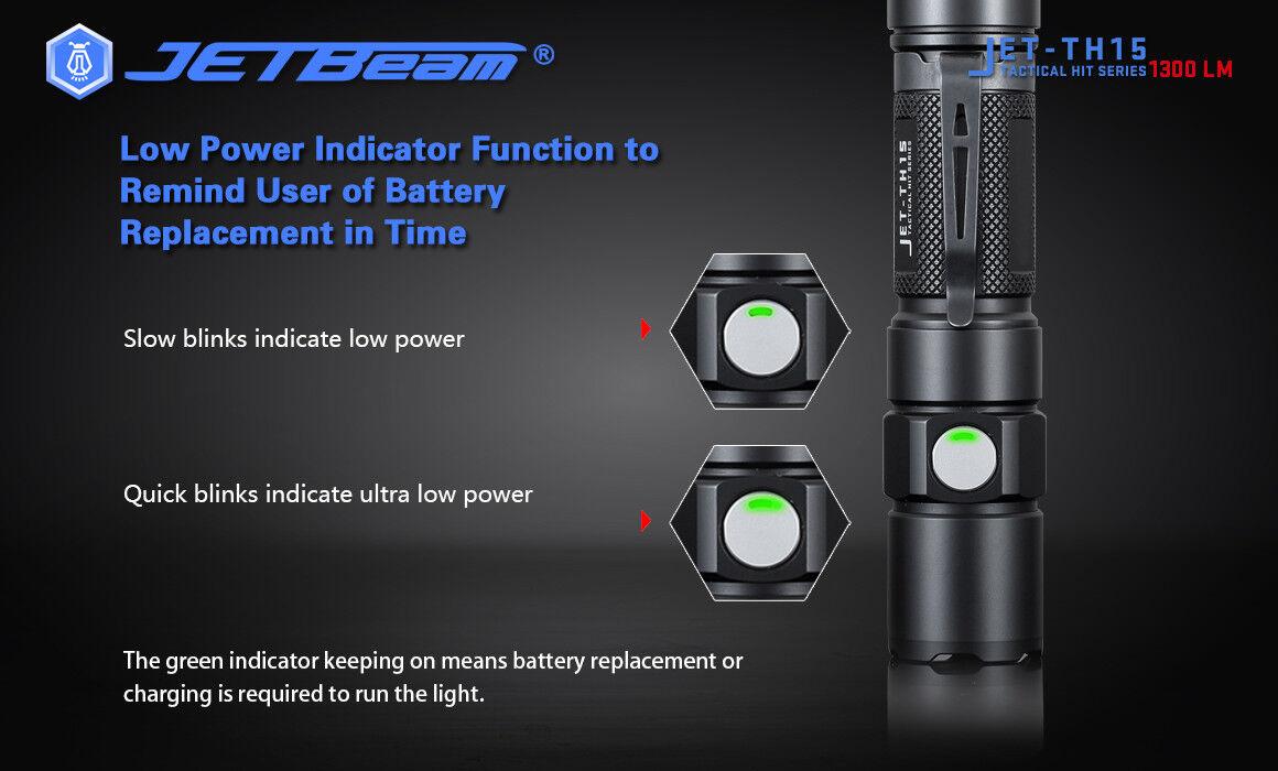 Nuovo Jetbeam TH15 Cree XHP35 XHP35 XHP35 E2 1300lm LED Tactical Flashlight ( NO Battery ) 5a98ba