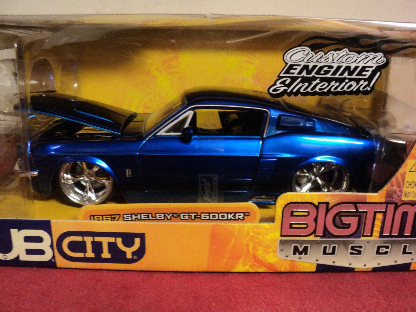 Jada  1967 Shelby Mustang GT500 KR 1 24 scale NIB  2005 release Blau