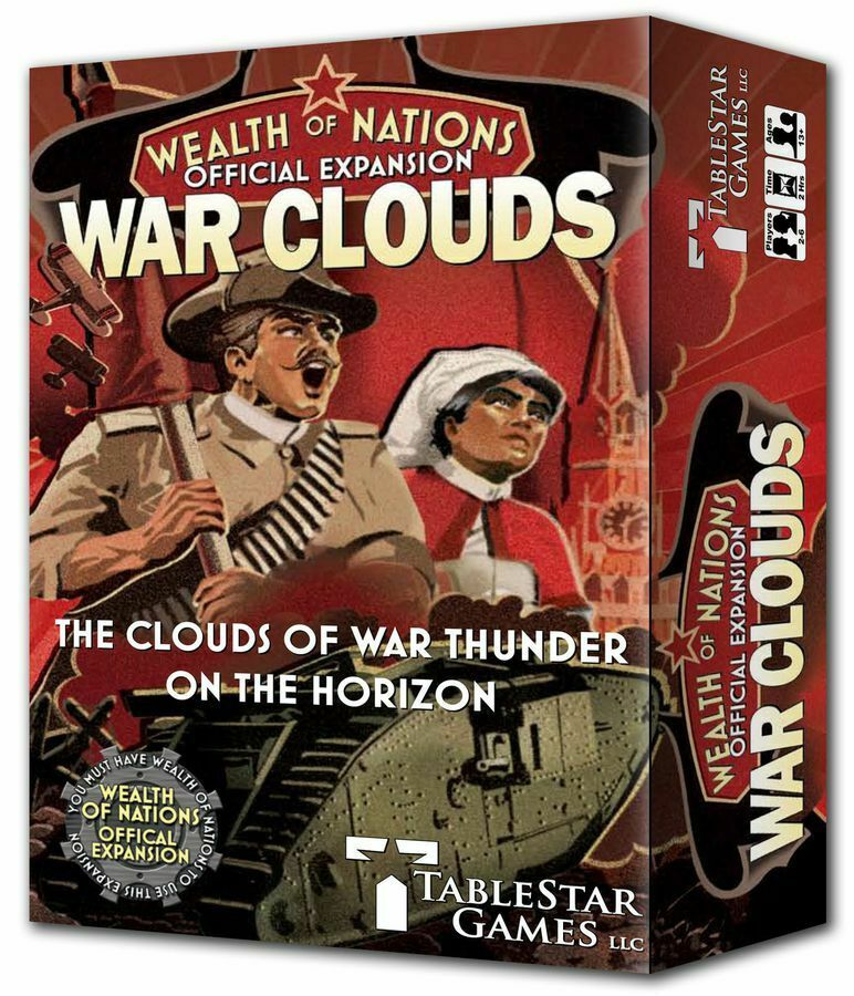 Wealth Of Nations WAR CLOUDS Expansion INCrougeIBLY RARE    NEW SEALED & NO GST