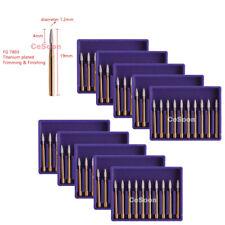 10x Carbide Tungsten Burs Dental Mani Burrs Tungsten Fg7803 High Speed Handpiece