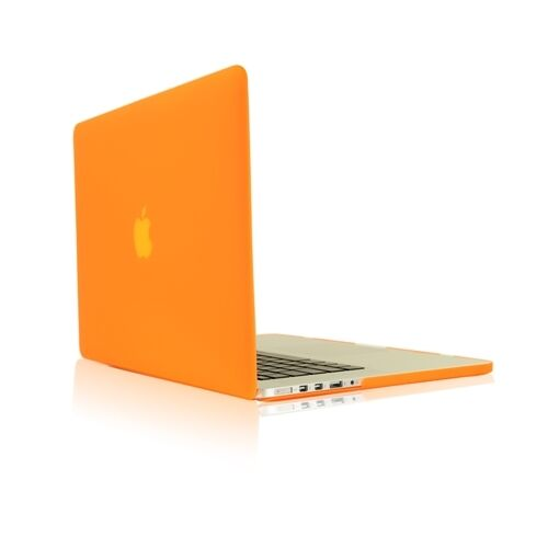 """ORANGE Rubberized Hard Case for NEW Macbook Pro 15"""" A1398 with Retina display"""