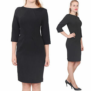 373daa5095c Image is loading BLACK-WOMENS-ELEGANT-CLASSY-WORK-OFFICE-BUSINESS-LONG-
