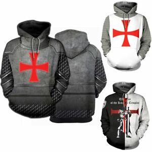 Medieval-Knight-Templar-Armor-3D-Print-Hoodie-Hooded-Pullover-Casual-Sweatshirt