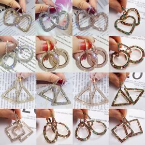 Fashion-Geometrical-Crystal-Rhinestone-Earrings-Circle-Heart-Love-Bling-Ear-Hoop