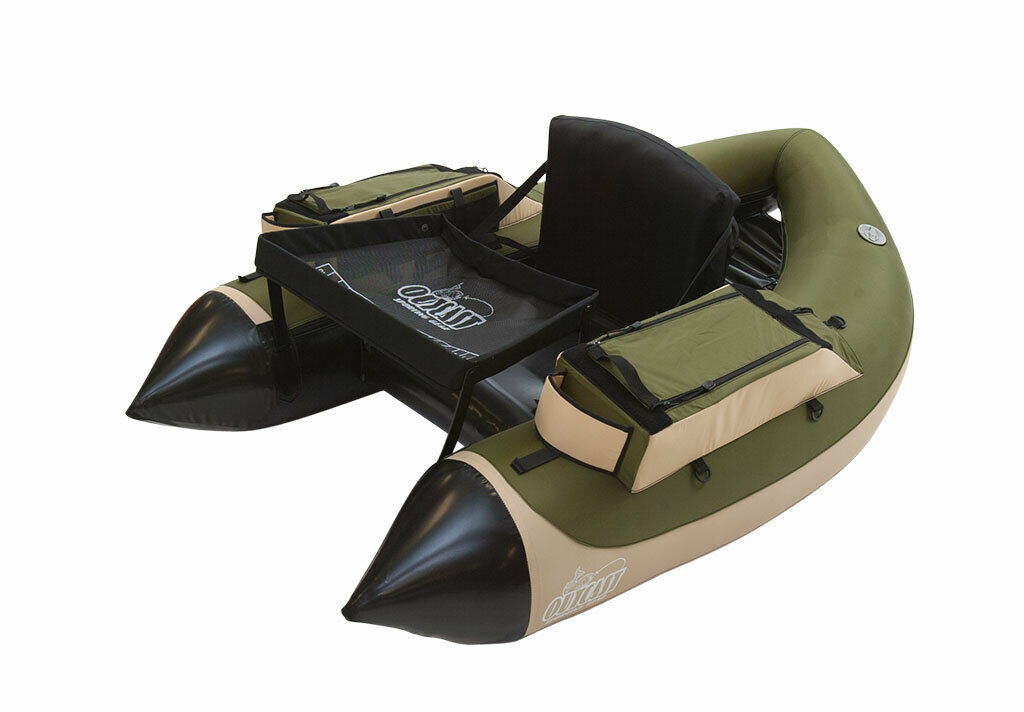 Outcast SUPER FAT CAT Float Tube Olive//Tan free ship in US* Free $40 Gift Card