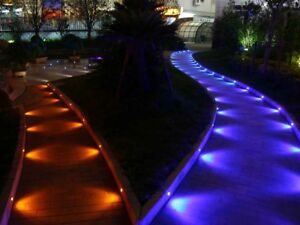 45mm Timer Smart WIFI Control LED Decking Recessed Stair Lights Pathway RGB Lamp