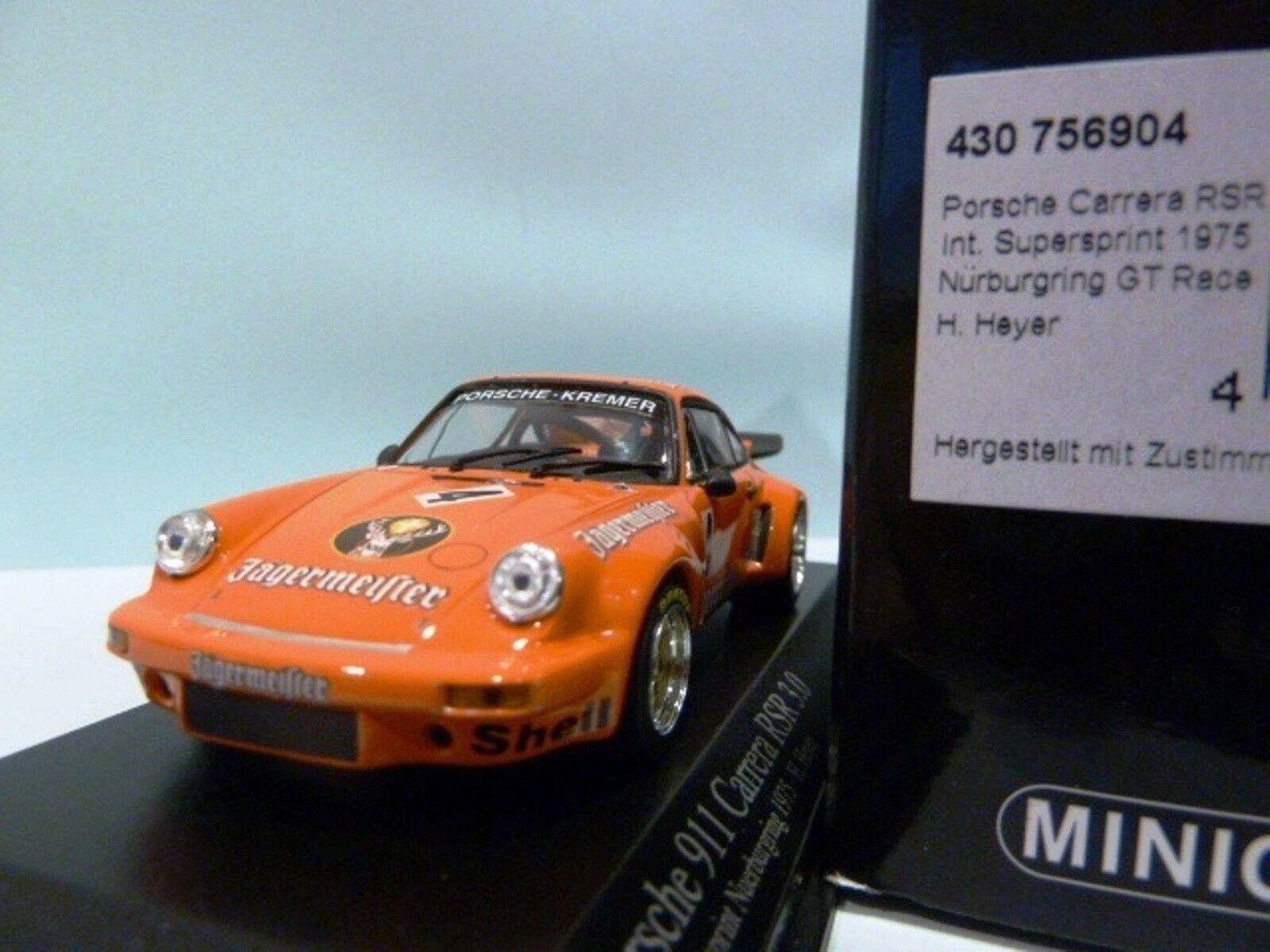 Wow extremadonnate raro Porsche 911 RSR 3.0 1975 Delantales 1 43 Minichamps-Spark