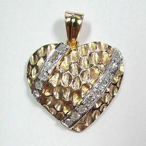 449-Attraktiver-Herz-Anhaenger-Gelbgold-585-0-25-ct-Diamanten-1941