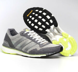 finest selection ec173 b6054 Image is loading Women-Adidas-Adizero-Adios-Grey-Running-Shoes-Womens-